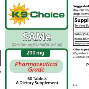 K9 Choice SAMe 200mg For Dogs