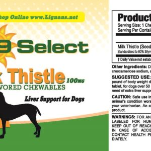 K9 Choice Milk Thistle For Dogs - Beef Flavor