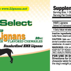 K9 Select HMR Lignans 20mg For Dogs - Peanut Butter Flavor